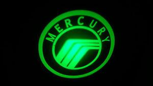 2PC GREEN MERCURY 5W LED EMBLEM DOOR PROJECTOR GHOST SHADOW PUDDLE LOGO LIGHT