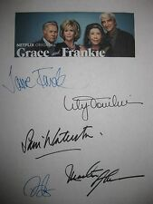 Grace and Frankie Signed TV Script X5 Jane Fonda Lily Tomlin Sheen Decker reprnt