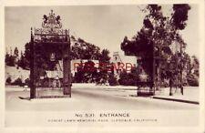 RPPC No. 531 - ENTRANCE, FOREST LAWN MEMORIAL PARK, GLENDALE, CALIFORNIA