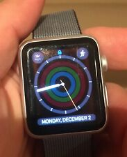 GENTLY USED Apple Watch 7000 series Silver Aluminum 42mm w/sports band