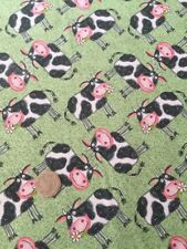 Blank Quilting Barnyard Boogie Cows Farm Cotton Quilting Fabric FQ 50cm x 54cm