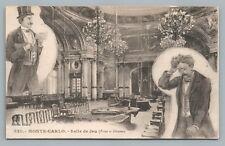"Monte Carlo ""Salle de Jeu"" Gambling Hall CASINO Interior—Rare Antique CPA 1910s"