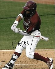 CARLOS CORTES HAND SIGNED SOUTH CAROLINA GAMECOCKS 8X10 PHOTO W/COA