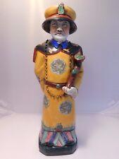 PORZELLAN FIGUR CHINESISCHE KAISER YONGZHEN  UM 1890 – H.57 CM
