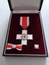 Rotes Kreuz Verdienstkreuz silber im Etui mit Schleife und Pin (Herren)