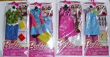 Barbie Doll 4 Career Fashions Tennis Player Teacher Musician Painter Outfits New