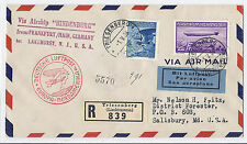 1936 Liechtenstein Zeppelin Cover Airship Hindenburg Triesenberg, Registered*