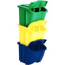 Suncast Multi Colored Recycle Bin Kit Multicolor
