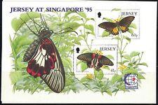 Jersey SC731a Souv.Sht. Beautiful Butterflies & Moths MNH 1995