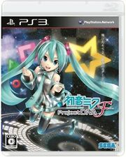 PS3 SEGA Hatsune MIKU Project DIVA F Import Japan Free Shipping F/S