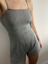 Topshop silver sparkle romper size UK10 brand new with tags playsuit top shop