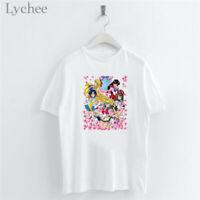 Cartoon Sailor Moon Girls Sakura Women T Shirt  Short Sleeve O-Neck Casual Tops