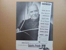 1947 Columbia Records Conductor Bruno Walter vintage print ad