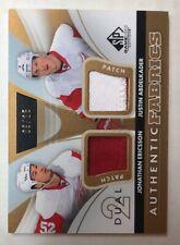 2012-13 SP Game Used Authentic Fabrics Dual Patch Detroit Red Wings 9/25 Bonus