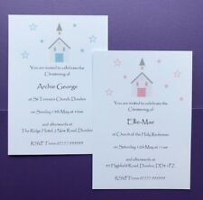 10 Personalised Christening Invitations - Girls - Boys - Baptism