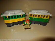 FISHER PRICE GEOTRAX CHATTY CHRIPS TROLLEY TRACK RAILROAD TRAIN SET LOT