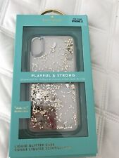 New Kate Spade New York Liquid Glitter Case Apple iPhone X / Xs Champagne Bottle