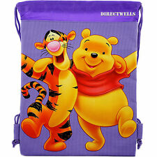Disney Winnie The Pooh Lavender Drawstring Bag School Backpack