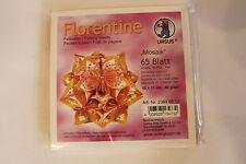 Faltblätter Florentine Mosaik 02 ; 65 Blatt 10 * 10  cm 80 g/qm
