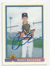 Autographed/Signed 1991 Bowman #149 /Rusty Meacham/Detroit Tigers/Tough Signatur