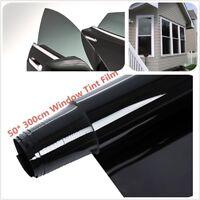 5% VLT 3mx50cm CAR WINDOW TINT GLASS FILM TINTING ROLL FEET SHADE HOME