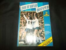 Football Programme Tottenham Hotspur vs Manchester United March 12th 1985