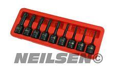 "9 Pce Impact SPLINE bit Socket Set  M4 M5 M6 M8 M9 M10 M12 M14 M16 1/2"" drive"
