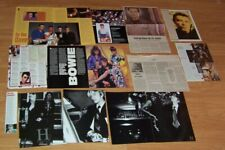 18 pcs David Bowie clippings Tin Machine Iman