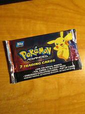1x SEALED Pokemon TOPPS ADVANCED Booster Card PIKACHU ART Pack From Box TCG