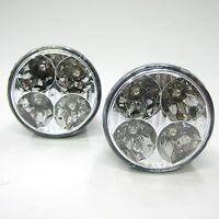 """Daytime Running Lights Drl LED Lamps White Fog Light 12v 2x 2.8"""" Car Van Offroad"""