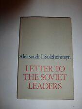 Letter to the Soviet Leaders by Aleksandr Solzhenitsyn - HBDJ First Edition B271