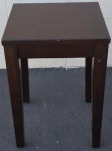 Nice Gently Used Solid Wood Accent Table - GREAT CONTEMPORARY LINES - GDC