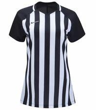Nike Womens Football Soccer Jersey Shirt Striped Medium Black White Referee