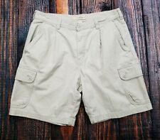 Cherokee Cargo Khaki Casual Hiking Camping Shorts Men 36