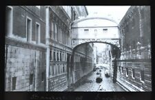 Glass Magic Lantern Slide Photo Italy Venice Bridge Of Sighs Newton