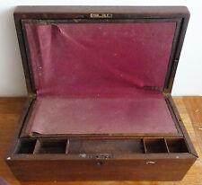 écritoire de marine voyage en bois 19e siècle avec tiroir secret Writing desk
