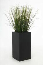 Blumenkübel Pflanzkübel aus Fiberglas BLOCK Anthrazit, 60cm B-WARE