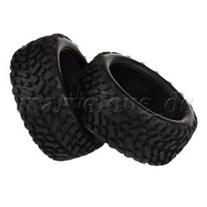 4 Pcs Black 52mm OD Rubber Wheel Tires for All Brand RC1:10 On Road Rally Car