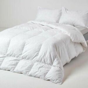 10.5 Tog LUXURY HOTEL QUALITY WARM GOOSE FEATHER & DOWN DUVET QUILT PILLOW PAIR