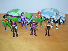 "Teen Titans Action Figure Lot Bandai 3.5"" 2003 Cyborg Starfire Beast Boy Robin"