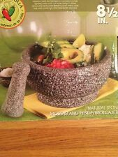 "Casa Maria Molcajete Large Natural Stone Mortar and Pestle 8.5"" *NEW*"