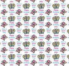 Personalised Gift Wrapping Paper BUTTERFLIES Birthday Large Sheet