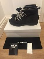 EMPORIO ARMANI Suede Hiking Boots Size UK 10