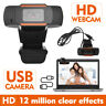 HD Webcam Computer PC Laptop Digital USB Camera Video Recording with Microphone