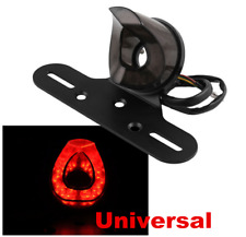 12V LED Universal Motorcycle Rear License Plate Frame Tail Light Lamp Bracket