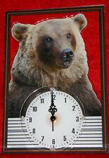 Horloge pendule animaux ours 3 clock uhr reloj bear