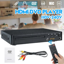 1080P Full HD LCD DVD Player Compact 6 Region Stereo Video MP4 MP3 CD USB Remote
