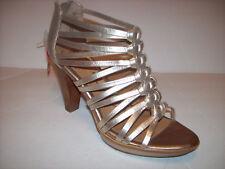 New SOFFT Rendon gold leather platform high heel sandals US Sz 10M