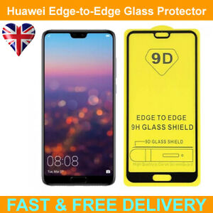 9D Edge to Edge Tempered Glass Screen Protector For Huawei P20 Pro