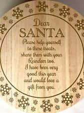 Dear Santa Christmas Eve Platter Plate - Treat and Drink Plate -Father Christmas